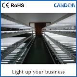 venta caliente 3000-6500K muy popular en el supermercado que enciende las mercancías y el precio para hacer publicidad de la luz de la lámpara del tubo T8 del LED