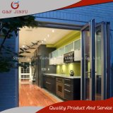 Power Coated Aluminium Bi-Folding Door with Louvers/Shutters