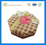 Rectángulo de empaquetado del regalo del chocolate con la impresión en color completa