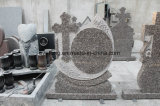 De opgepoetste en Geborstelde DwarsGrafsteen van het Graniet van Roemenië Monumentfuneral