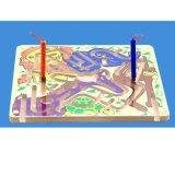 Les enfants Cartoon stylo magnétique perles de bois labyrinthe voie jeu de puzzle jouet éducatif