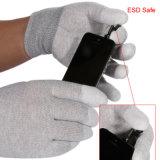 Связанная перчатка волокна углерода противостатическая с ладонями Breathable полиуретана Coated