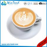 卸し売り商業白い磁器のLatteのコーヒーカップ・アンド・ソーサー