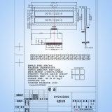 tipo pantalla del diente de la representación gráfica 122X32s de 2.3inch LCD