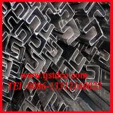Tubo della sezione del acciaio al carbonio (Q235 A36 St37 Q345 A106 GrB)