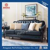 Sofà europeo N340 del salone del cuoio di legno solido di Rui Fu Xiang