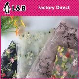 Оптовая ткань шнурка вышивки способа для платья