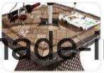 Напольное /Rattan/установленная таблица Chair& ротанга мебели сада/патио/гостиницы (HS1629AC&HS7616DT)