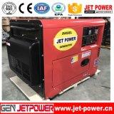 générateur portatif de générateur diesel silencieux de 60Hz 6.5kVA refroidi à l'air