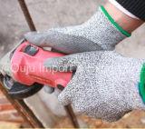 перчатка безопасности Резать-Сопротивления 13G Hppe при покрынный PU
