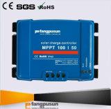 Regulador azul del regulador del cargador de batería solar de Fangpusun MPPT 50A 12V 24V