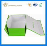 Fait à la main de l'emballage en carton rigide rabattable à plat Boîte avec boîtier magnétique (Chine fabricant)