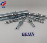 Conector hidráulico de 90011 guarniciones de la columna de alimentación del conector doble recto métrico del manguito