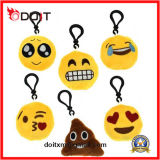 Ammortizzatore gridante farcito rotondo giallo del Emoticon di Emoji di morbidezza della peluche