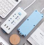220V type 3 Afzet met Dubbele USB 1.8m 6FT Strook van de Macht van de Contactdoos van WiFi van de Afstandsbediening de Slimme