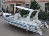 Liya 5.8m de Opblaasbare Boot van de Glasvezel van de Boot van het Ponton Goedkope