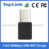 2.4G/5g 802.11AC/a/B/G/N se doblan adaptador de red sin hilos del USB WiFi de la venda 600Mbps para el rectángulo androide de la TV