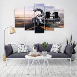 Impresión de HD 5 pedazos de la lona de la pared del arte de Delorean de la impresión de pintura de la lona de la decoración de la pared del arte de la decoración casera moderna futura de la sala de estar