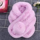 多彩な高品質の最もよい価格ののどのウサギの毛皮のスカーフ