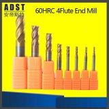 HRC60 플루트 텅스텐 탄화물 8mm 크기 끝 선반