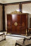 Mobília antiga luxuosa italiana do jogo de quarto da madeira 0063 contínua
