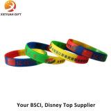 Preiswerte bunte normale SilikonWristbands mit Drucken