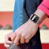 Nuevo color Acero Inoxidable Enlaces Muñequera tres eslabones de la banda de color rosa para Fitbit Blaze