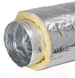 Manguito flexible del aislante termal de las lanas de cristal del conducto de los papeles de aluminio de la capa doble