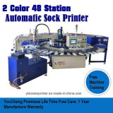 2 Station-Socken-Bildschirm-Drucken-Presse der Farben-48