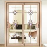 Двойная стеклянная раздвижная дверь с классицистической картиной