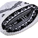 Chapeau épais de Beanies chauds de l'hiver tricoté par impression unisexe du chapeau des femmes de Mens (HW413)