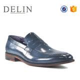 Cuero de alta calidad hechos a mano deslizarse sobre Loafer Mens zapatos
