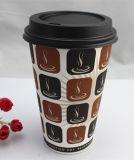12oz Tirar de Venda Directa Estilo atraente copos de papel para tempo de café