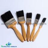 Poignée en bois noir pur pinceau à poils