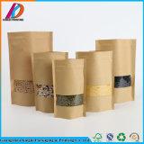 Suporte de Papel Kraft de embalagens de alimentos Saco com fecho zip
