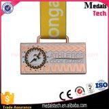 La qualité meurent la médaille en alliage de zinc en métal de sport de forme de rectangle de moulage