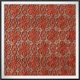 Tela floral delicada da guipura do laço do bordado