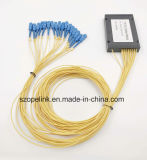 Gpon 원거리 통신 1X16 플라스틱 상자 PLC 쪼개는 도구