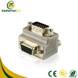 Schwarzer DVI männlicher Audiofaser-Optikkonverter-Adapter