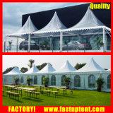 PVC Alumínio branco picos altos de tenda Gazebo para 50 pessoas lugares comentários