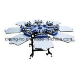 Impresora de la pantalla de seda de la camiseta de la ropa del color de la venta al por mayor ocho
