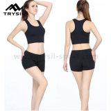 적당 조끼 짧은 바지 요가 탄 상단 여자 운동 의복이 숙녀를 위한 여름 스포츠 상품에 의하여 누전한다