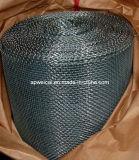 電流を通された、ステンレス鋼、銅の正方形の網