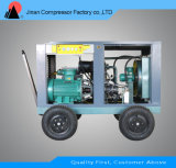드릴링 리그를 위한 휴대용 디젤 엔진 회전하는 나사 공기 압축기