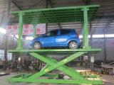 屋根が付いている2つのレベルのガレージ車の駐車上昇