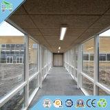 Teto acústico do material de construção do painel de parede do painel da fibra