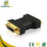 La impresión de 24pin 5.1-8.6mm macho a conector hembra Adaptador DVI HDMI