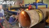 Bewegliches Metallrohr CNC-Plasma/Flamme-Ausschnitt-abschrägenmaschinerie