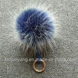 Décoration s'arrêtante de chapeau de sac de trousseau de clés de la fourrure POM POM de Faux