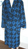 L'homme Robe Argyle Coral Fleece (NBHY-200601)